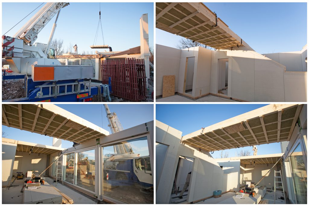 House building made by pre fabricated parts