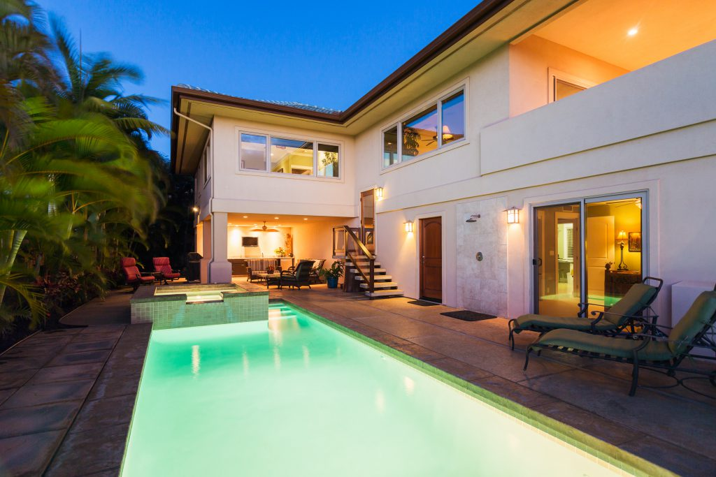 Luxury Home with Pool and Hot Tub at Sunset